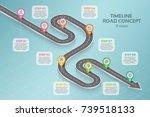 isometric navigation map... | Shutterstock .eps vector #739518133