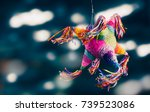 colorful mexican pinata used in ... | Shutterstock . vector #739523086