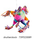 colorful mexican pinata used in ... | Shutterstock . vector #739523089