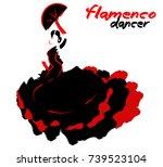 flamenco dancer  silhouette...   Shutterstock .eps vector #739523104