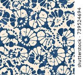 abstract floral motif in shades ... | Shutterstock .eps vector #739524694