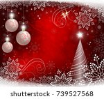 red christmas background with... | Shutterstock .eps vector #739527568