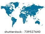 world map | Shutterstock .eps vector #739527640