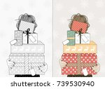 hand drawn illustration of a... | Shutterstock .eps vector #739530940