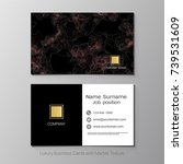 business cards vector template  ... | Shutterstock .eps vector #739531609