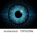 binary circuit board future... | Shutterstock .eps vector #739532986