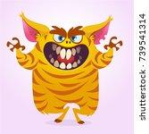 cute cartoon monster. vector ... | Shutterstock .eps vector #739541314