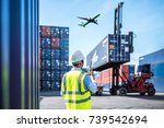 foreman control loading... | Shutterstock . vector #739542694