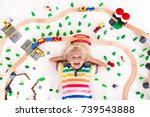 Kids Play With Toy Train...