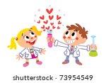 Chemistry of love - stock vector