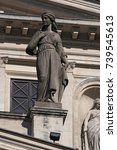 the sculpture of the isabella... | Shutterstock . vector #739545613