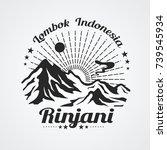 graphic of rinjani mountain ... | Shutterstock .eps vector #739545934