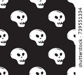 seamless pattern with black and ...   Shutterstock .eps vector #739551334
