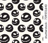 halloween seamless pattern with ... | Shutterstock .eps vector #739551640