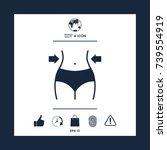 women waist  weight loss  diet  ...   Shutterstock .eps vector #739554919