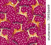 vector seamless pattern with...   Shutterstock .eps vector #739556449
