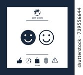 smile icon. happy face symbol... | Shutterstock .eps vector #739556644