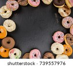 some fresh made donuts  view... | Shutterstock . vector #739557976