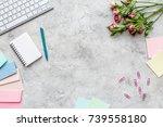 Woman Desk Design With Keyboar...