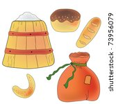 set of bread  flour and... | Shutterstock .eps vector #73956079