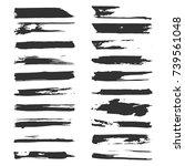 set of vector grunge stripes... | Shutterstock .eps vector #739561048