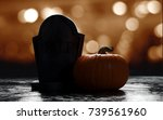 halloween background scene with ... | Shutterstock . vector #739561960