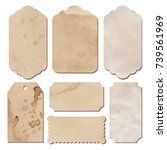 set of vintage tags from old... | Shutterstock .eps vector #739561969