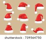 Santa Claus Hat Set. Collectio...