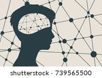 silhouette of a woman's head.... | Shutterstock .eps vector #739565500