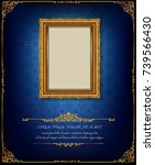 thailand royal gold frame on... | Shutterstock .eps vector #739566430