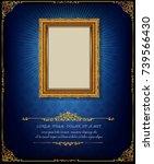 thailand royal gold frame on... | Shutterstock .eps vector #739566430