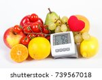 blood pressure monitor with... | Shutterstock . vector #739567018