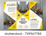 business brochure. flyer design.... | Shutterstock .eps vector #739567783