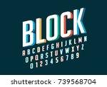 vector of modern stylized... | Shutterstock .eps vector #739568704