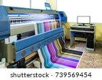 large inkjet printer working... | Shutterstock . vector #739569454