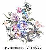 graceful flowers  the leaves...   Shutterstock . vector #739570330
