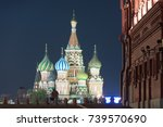 st basil's church in moscow red ... | Shutterstock . vector #739570690