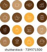 set of coffee vector line icon   Shutterstock .eps vector #739571500