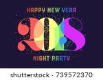 happy new year. greeting card... | Shutterstock .eps vector #739572370
