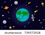 the world outside the universe... | Shutterstock .eps vector #739572928