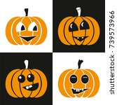 vector pumpkin for halloween | Shutterstock .eps vector #739573966