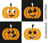 vector pumpkin for halloween | Shutterstock .eps vector #739573966