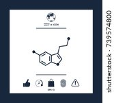 chemical formula icon. serotonin | Shutterstock .eps vector #739574800