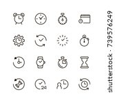 clock icon set. collection of...   Shutterstock .eps vector #739576249