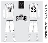 basketball jersey  shorts ... | Shutterstock .eps vector #739577176