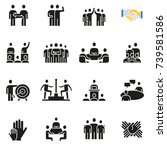 vector set of icons related to... | Shutterstock .eps vector #739581586