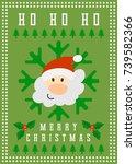 merry christmas vector greeting ...   Shutterstock .eps vector #739582366