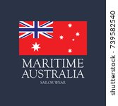 maritime australia t shirt... | Shutterstock .eps vector #739582540