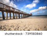 long exposure of naples pier ... | Shutterstock . vector #739583860