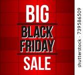abstract vector black friday... | Shutterstock .eps vector #739586509